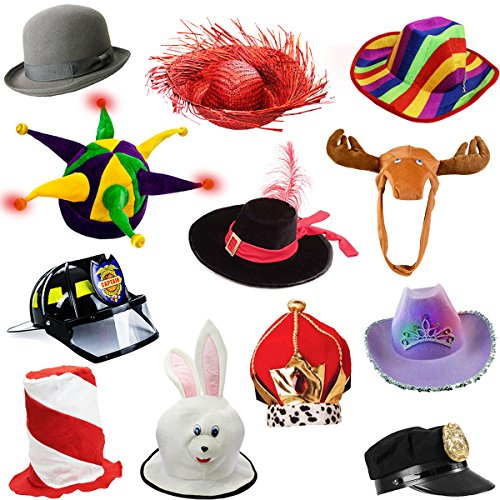 Great For Adults Costume And Dress Up Time Play Holiday Birthday Parties Family Get Togethers 6 Assorted Hats Many Styles