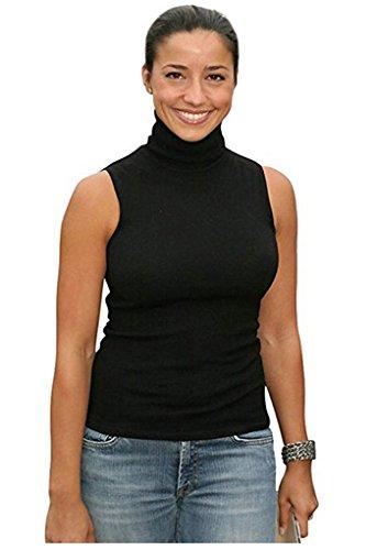 2228e849fd Halife Women s Sleeveless Turtleneck Shaping Tank Top Mock Turtleneck Shirt  Tops. Sleeve  sleeveless   Collar  Turtle Neck. Soft and comfortable ...