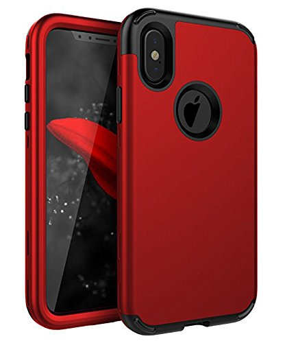 iPhone X Case, iPhone Xs Case,SKYLMW Heavy Duty Three Layers Hybrid Rugged Shockproof Armor High Impact Defender Case Cover for Apple iPhone X 2017/XS 2018, ...