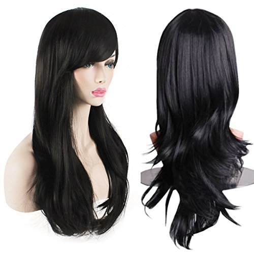 Hair Extensions & Wigs Hearty 28 Long Straight Wigs For Women Heat Resistant Falt Bangs Natural Ombre Wig Cosplay Costume Party Synthetic Hair Mapofbeauty Convenience Goods Synthetic None-lacewigs